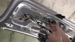 VW Polo 2001-2009 Как снять замок крышки багажника и активатор - removing the trunk lock