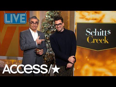 Dan Levy Jokes It's Been 'Torture' Working With Dad Eugene Levy On 'Schitt's Creek' | Access