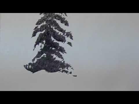 Berge Und Tannenbäume Malen Youtube