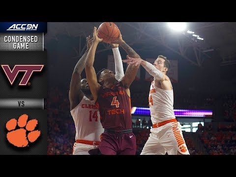 Virginia Tech vs. Clemson Condensed Game | 2018-19 ACC Basketball