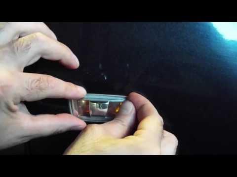 Боковой указатель поворота Chevrolet Opel снятие и замена лампы
