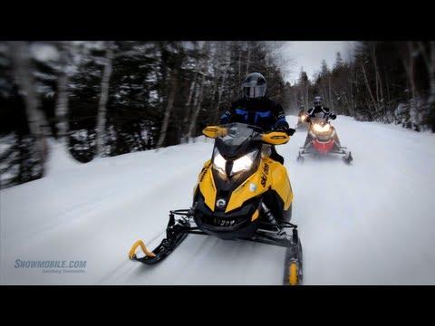 Snowmobile Touring Near Sudbury, Ontario