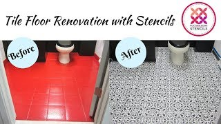 How to Transform A Floor With Our Moroccan Tile Stencil