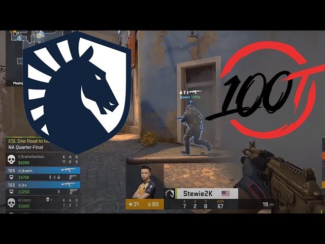 Liquid vs 100 Thieves - ESL One Major: Road to Rio - CS:GO