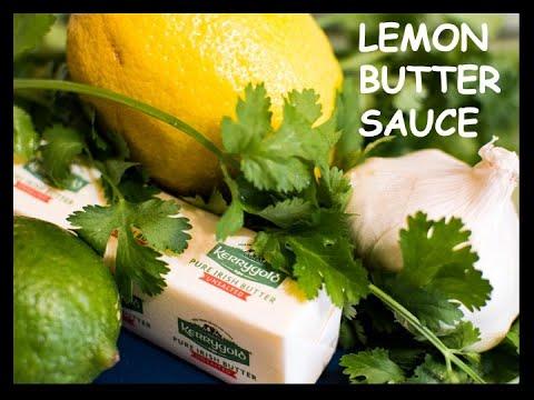 Lemon Butter Sauce W/Cilantro & Garlic