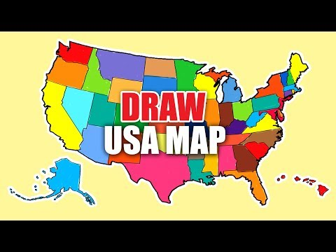 How To Draw Map Of USA. USA Map. United States Map