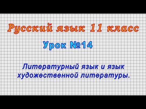 Русский язык 11 класс (Урок№14 - Литературный язык и язык художественной литературы.)