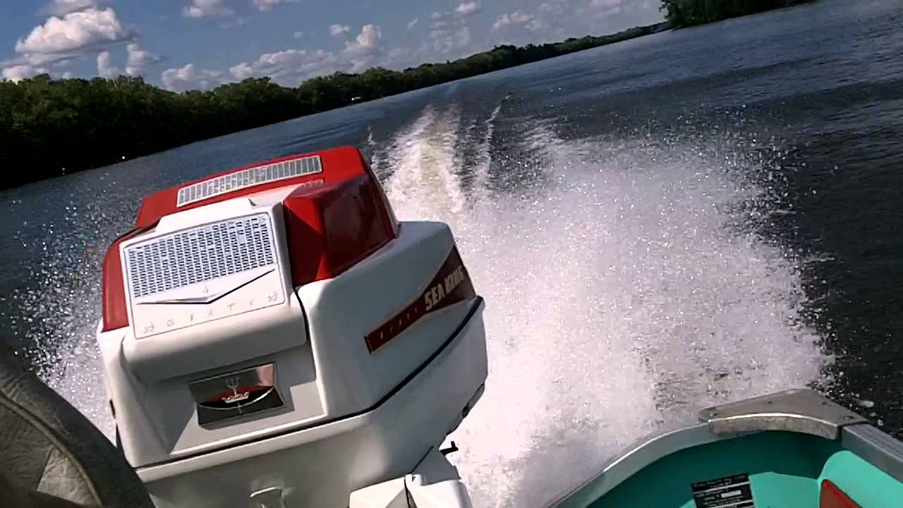 1961 60 Hp Gale Sea King Outboard Motor Youtube