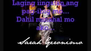 Sarah Geronimo - Dahil Minahal Mo Ako w/lyrics