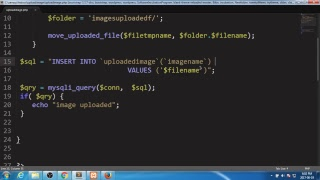 UPLOAD AND INSERT IMAGE INTO THE DATABASE HTML SQL PHP