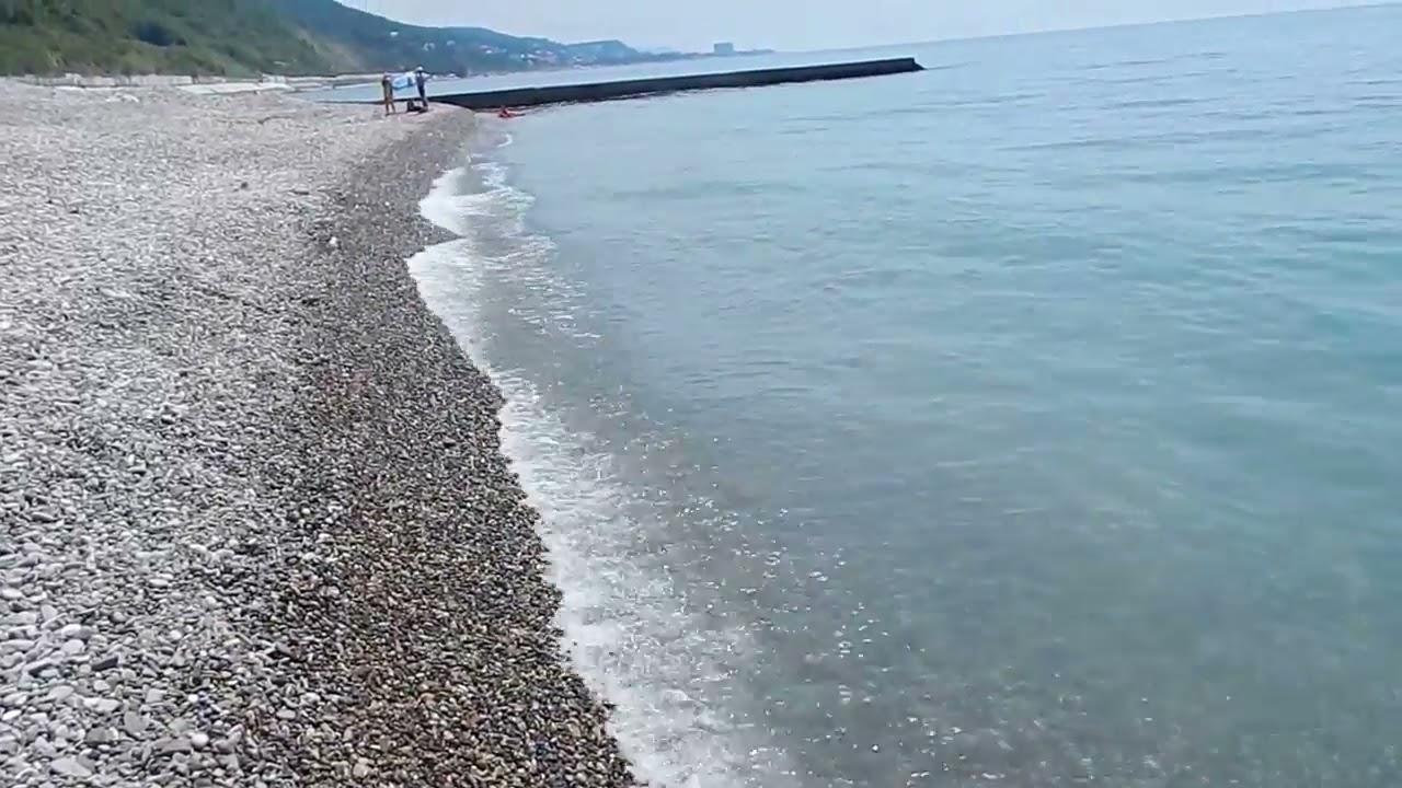 Пляжи поселка Лазаревское фото видео обзор на ТуристерРу