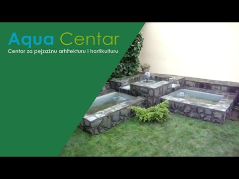 Izgradnja fontane i uredjenje dvorišta - Vršac - YouTube