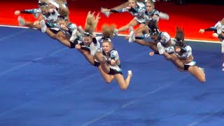 Cheer Extreme Cougars WINS NCA after MUSIC CUTS OFF!! INSPIRING ~ AMAZING thumbnail