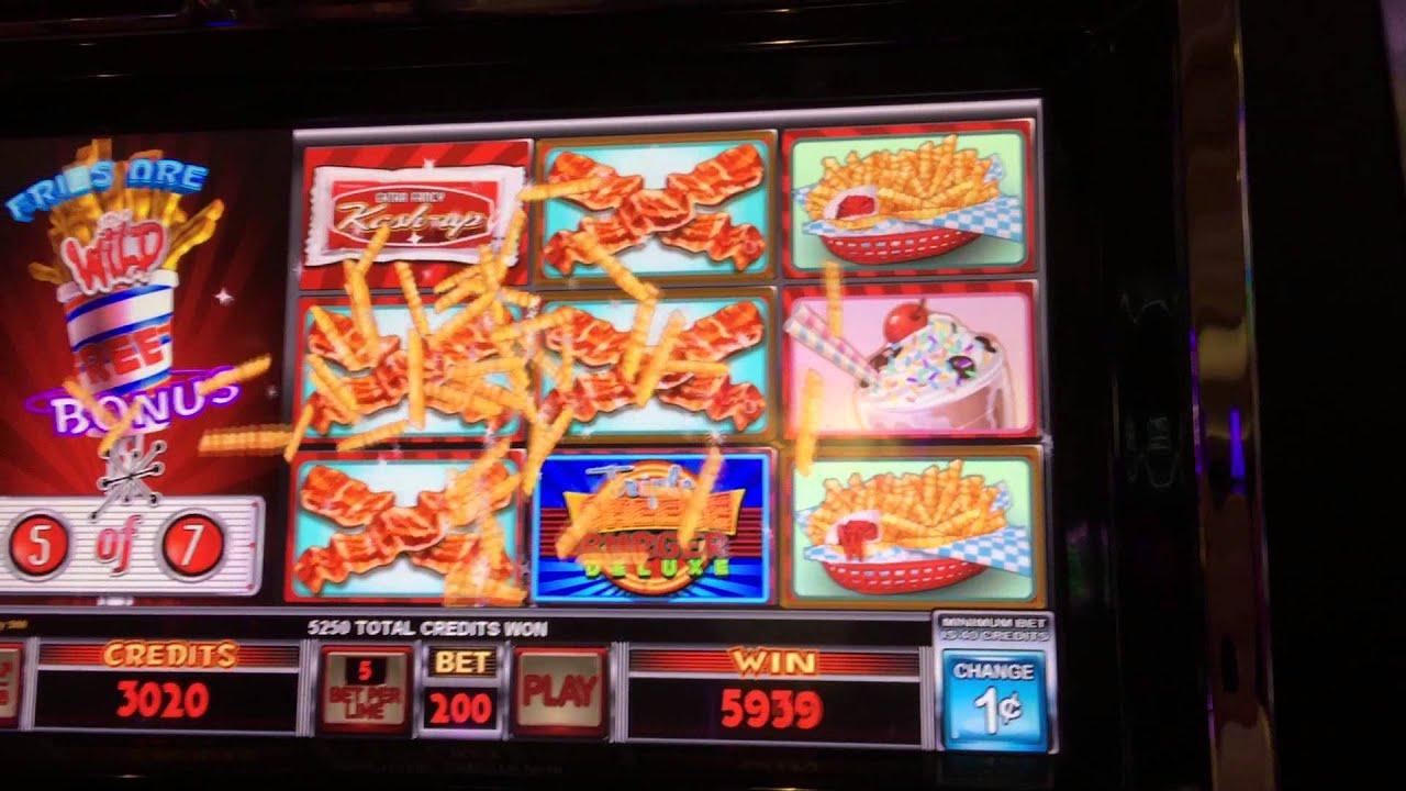 hamburger deluxe slot machine