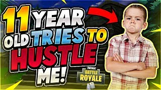 11 YEAR OLD TRIES TO HUSTLE ME! Community Games #4 (Fortnite Battle Royale)