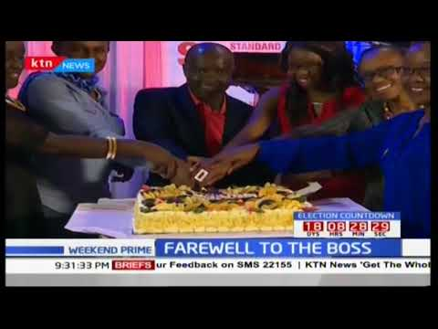 Standard Group management group and staff bids farewell to outgoing CEO Sam Shollei