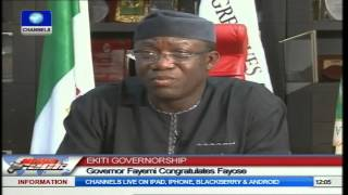 Ekiti Governorship Election: Governor Fayemi Congratulates Fayose