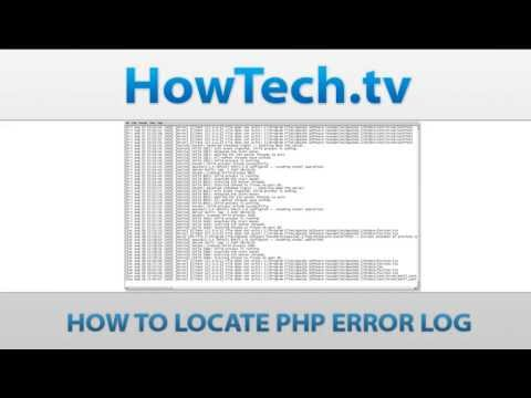 Where is thePHP Error LogLocate
