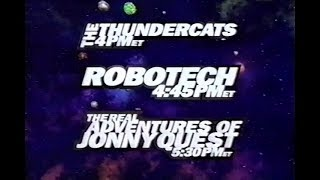 Toonami Lineup Bumper with ThunderCats, Robotech, and The Real Adventures of Jonny Quest (1998)