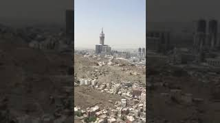 Makkah city beautiful view from sky with drone video