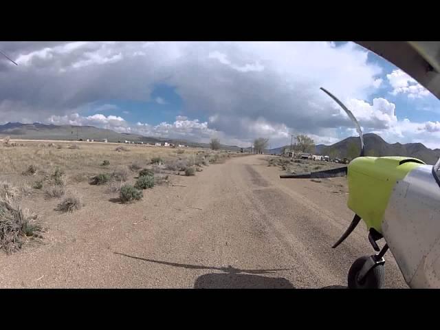 Landing & taking off from Denio Junction in my Savannah