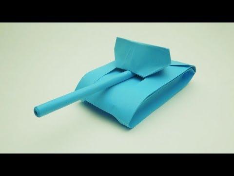 Cara Membuat Tank Dari Kertas. Origami Tangki