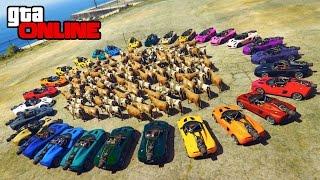 30 ROCKET CARS VS 100 COWS! +MOAR! || GTA 5 Online || PC (Funny Moments)