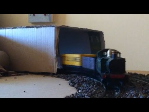 Building a Tunnel for your Model Railway from old Card Board Boxes part 2