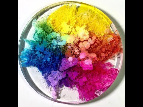 PETRI Alcohol Ink RESIN Art with PetrifiedRainbow a Modern Craft