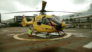 Демонстрационный запуск вертолета H135 пусковым аккумулятором Startstick