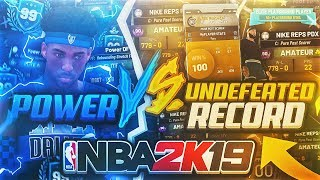 BEST UNDEFEATED RECORD IN NBA 2K vs POWER DF - GAME OF THE YEAR! NBA 2K19 PARK