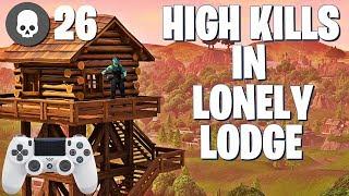 HIGHEST FRAG LONELY LODGE GAME EVER (Fortnite Battle Royale Gameplay)