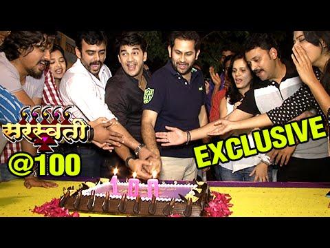 Saraswati Serial Completes 100 Episodes | Cake Cutting & Celebration | Colors Marathi | Aastad Kale