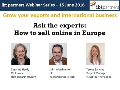 Webinar: How to sell online in Europe