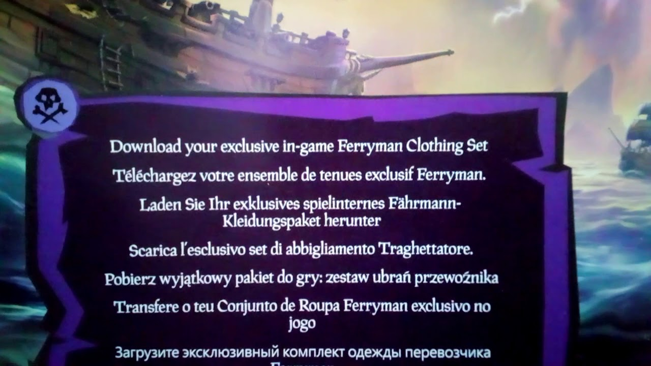 Sea of thieves xbox one limited edition Clothing DLC CODE GIVEAWAY!!!