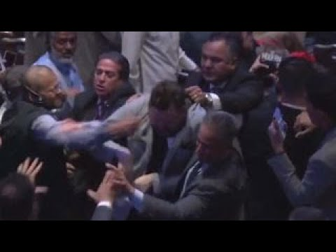 Brawl breaks out at Erdogan speech in New York City