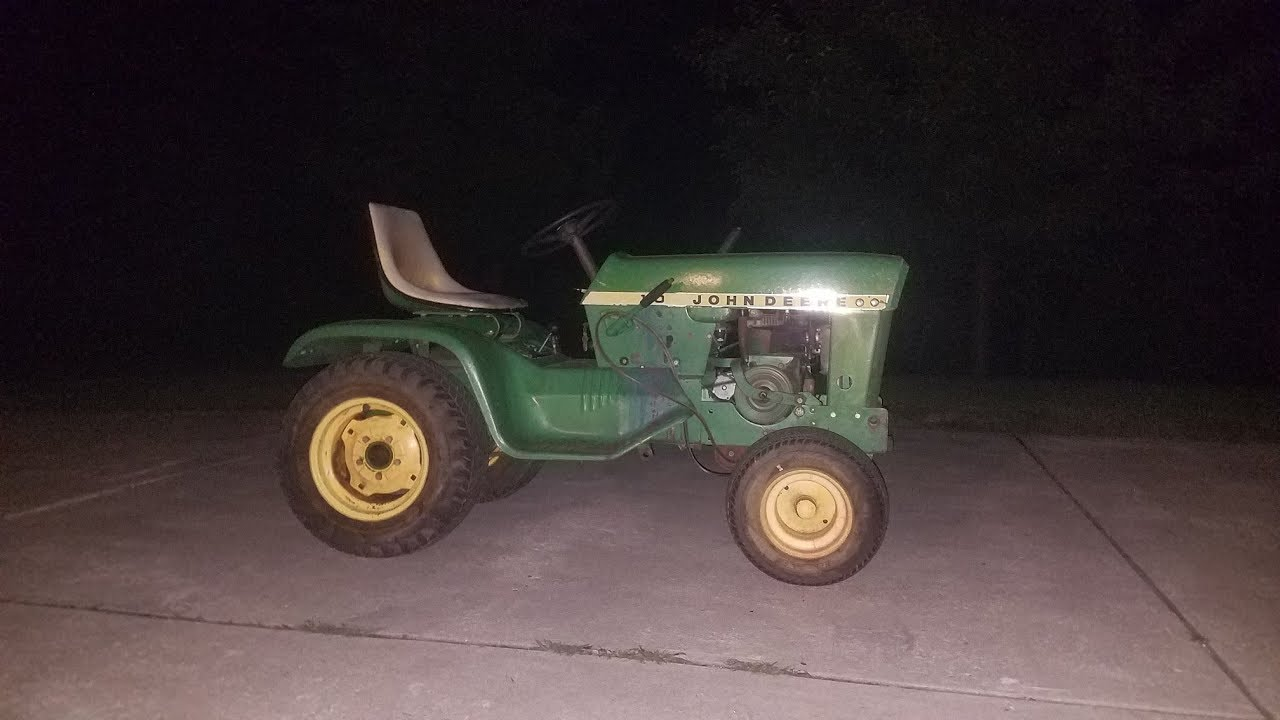 First Start And Drive Of The 1968 John Deere 110