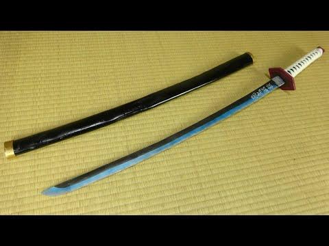 【Kimetsu No Yaiba】Giyuu\u0027s Nichirin Blade Tutorial 【Demon Slayer】
