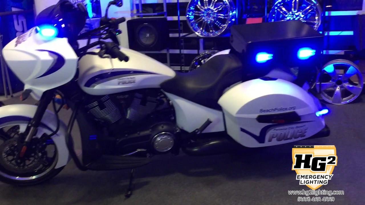 HG2 Emergency Lighting  Motorcycle Lighting Package Blue