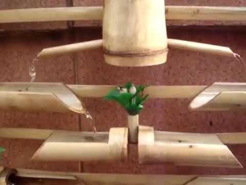 Air mancur dari bambu lucu abis
