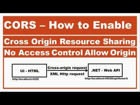 CORS- Implementing Cross Origin Resource Sharing