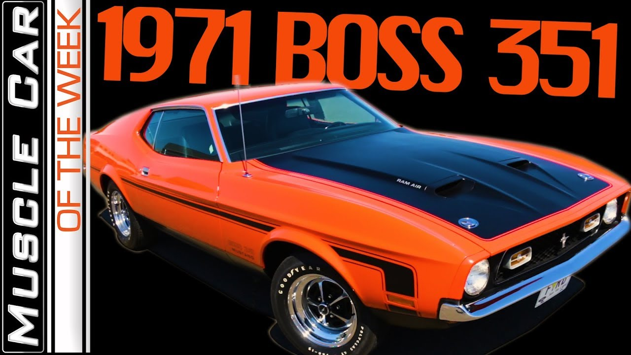 1971 ford mustang boss 351 muscle car of the week episode 292