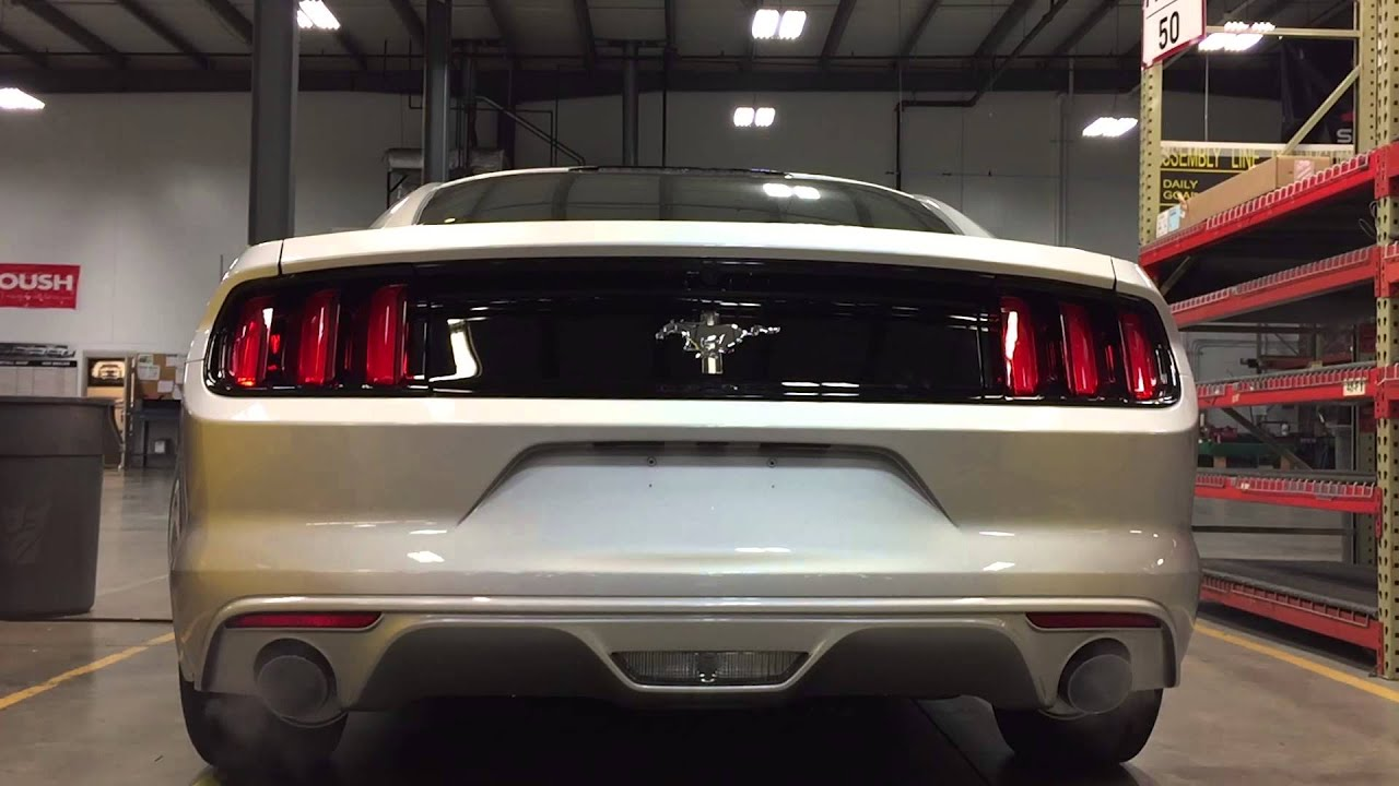 2016 Mustang V6 Exhaust >> 2015 ROUSH V6 Axle-back Mustang Exhaust - YouTube