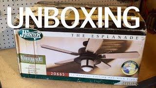 """Unboxing: Hunter """"Esplanade"""" Ceiling Fan"""