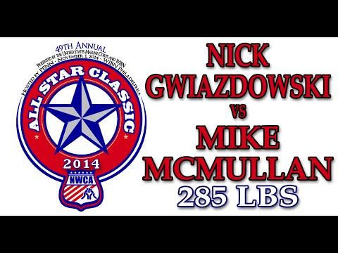 2014 NWCA All Star Classic - 285 lbs Nick Gwiazdowski vs. Mike McMullan