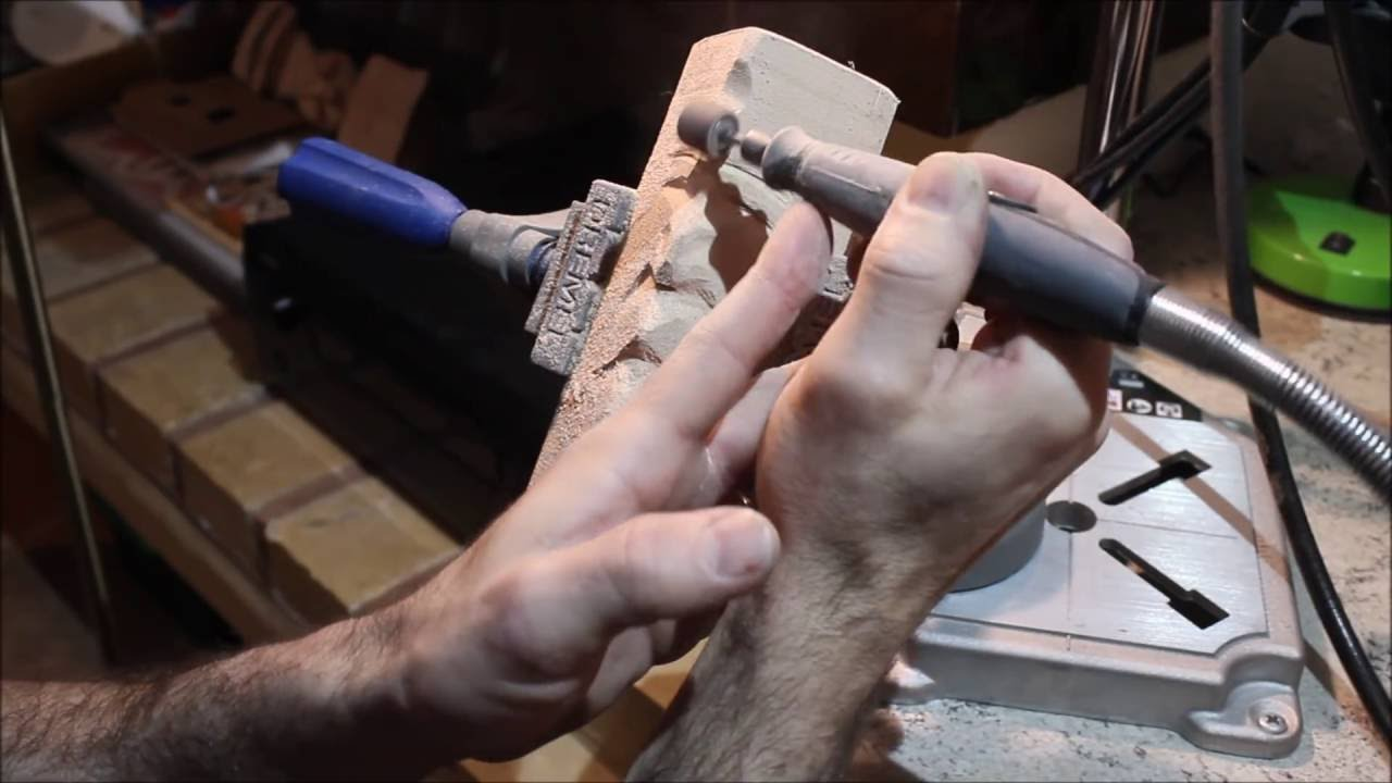 Wood Carving Dremel Carving Simple Woodspirit With Basic Dremel Accessories Youtube