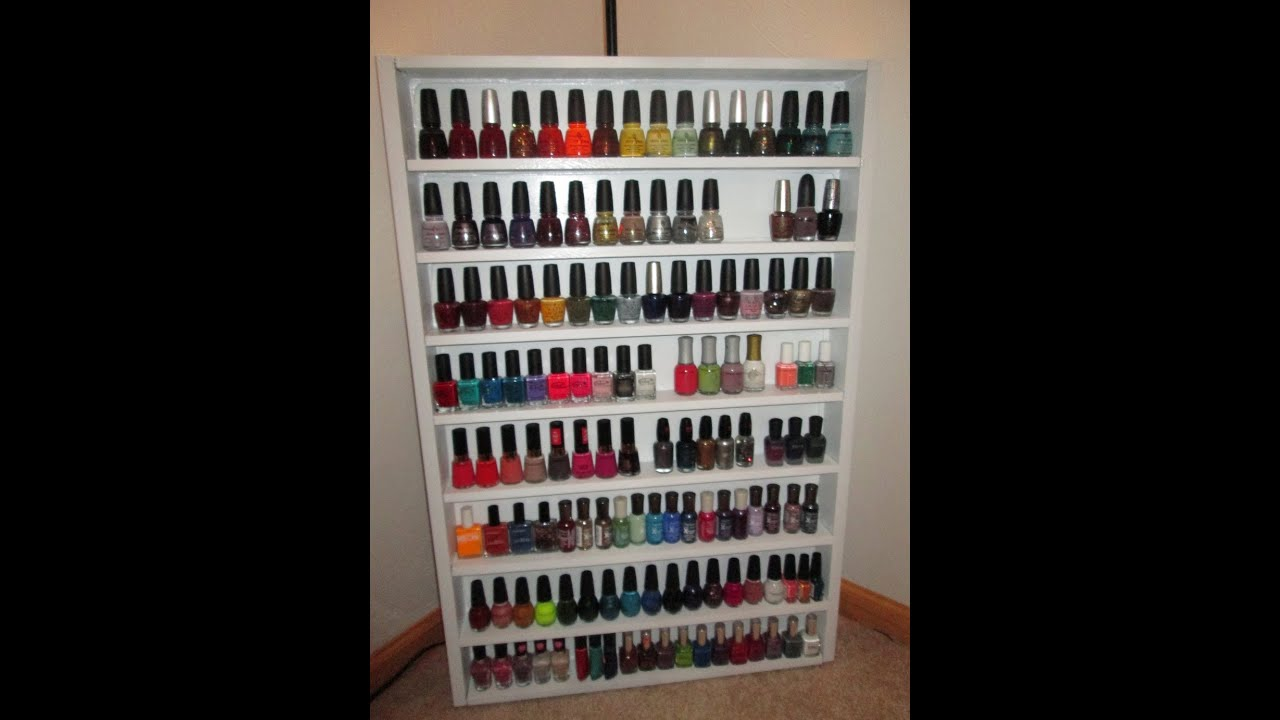 Diy Nail Polish Rack Inspired By Dulcecandy87 Youtube