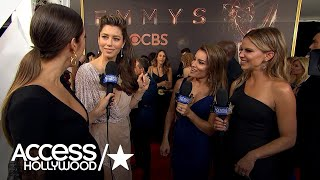 Jessica Biel On Her Gorgeous 'Old Hollywood' Emmy Look Title | Emmys 2017 | Access Hollywood