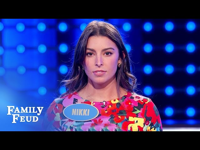 Wow! Nikki paves the way to an incredible win! | Family Feud