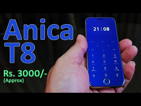 Anica T8 Review - Ultra Thin IPhone Style Phone For Rs. 3000